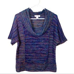 Christopher & Banks Top Sweater Cowl Neck Medium